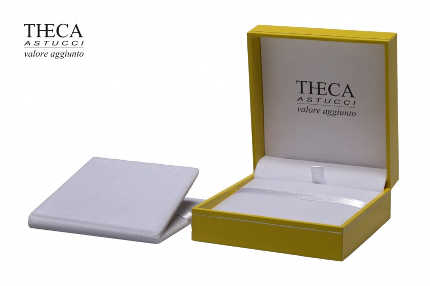 Presentation boxes Badget presentation boxes Outlet Outlet presentation box for pendant earring 86x91x36 yellow