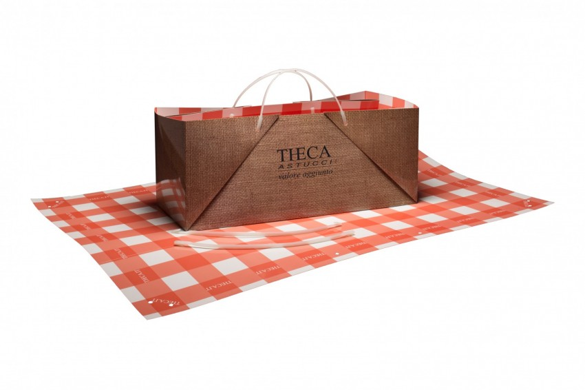 Wine packaging Shopper lux paper Pic-nic shopping bag Pic-nic shopping bag 55x24x23 cm