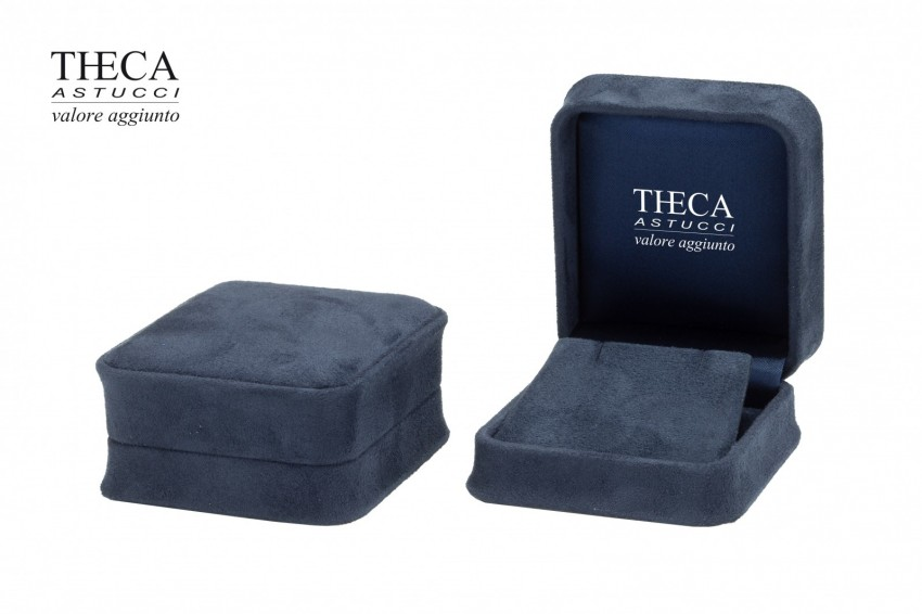 Jewelry box Wrapped boxes Mito Mito pendant 70x75x40 navy