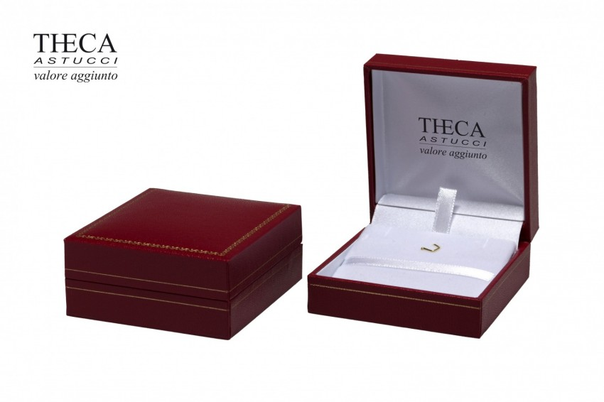 Jewelry box Wrapped boxes Thecax Thecax pendant 66x68x33 red