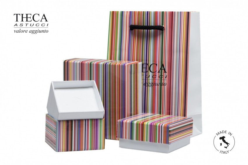 Jewelry box Paper box with shopper Mille righe Millerighe kit