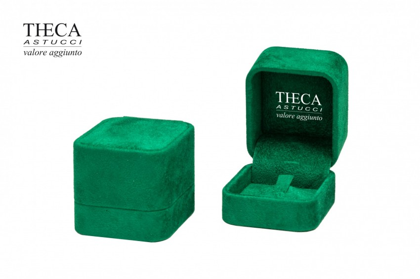 Jewelry boxes Jewelry box luxury Corfu Corfu presentation box for ring 50x58x45 green