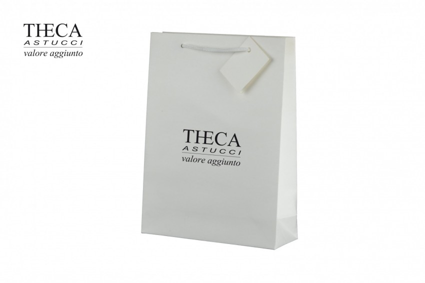 Gift bags Jewelry paper bags Unica shopper Unica gift bag 170+60x230 off white