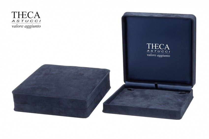 Jewelry box Wrapped boxes Mito Mito necklace 190x185x55 navy