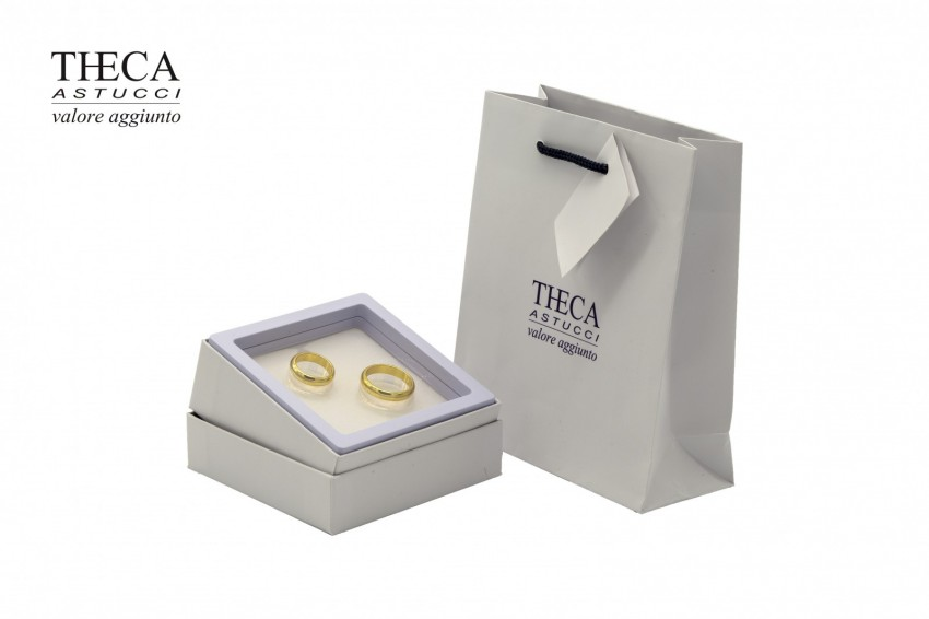 Wedding rings accessories Wedding rings boxes Iridio wedding rings Iridio wedding rings box with gift bag 95x95x39 white