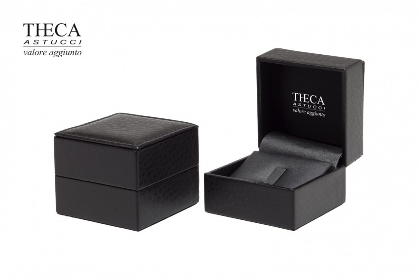 Jewelry boxes Jewelry box leatherette Kelly Kelly presentation box for ring earrings 70x70x50 black