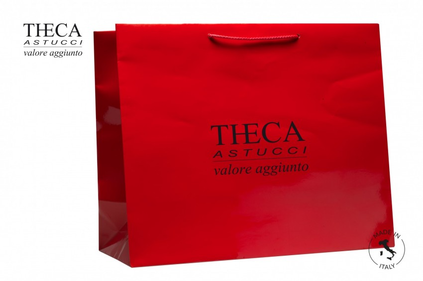 Shopper for jewelry Laminated shopping bag Italy shopper Italy shopper 52+18x43