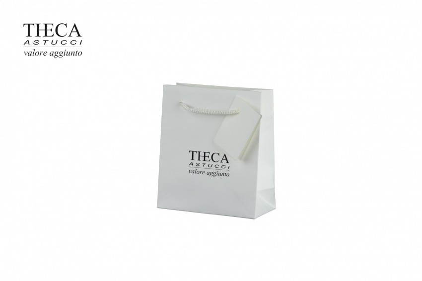 Gift bags Jewelry paper bags Unica shopper Unica gift bag 110+50x127 off white