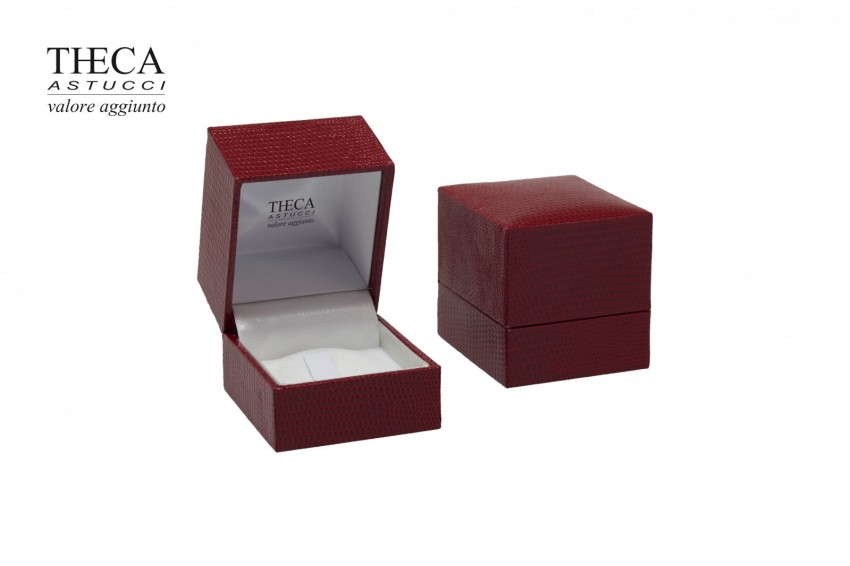 Jewelry boxes Jewelry box premium Basic Basic presentation box for ring 47x52x48 red
