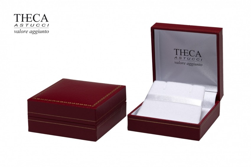 Jewelry box Wrapped boxes Thecax Thecax earring pendant 66x68x33 red