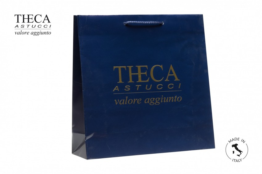 Shopper for jewelry Laminated shopping bag Italy shopper Italy shopper 37+12x37