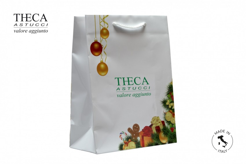 Shopper for jewelry Laminated shopping bag Christmas shopper Natale shopping bag 230+110x300