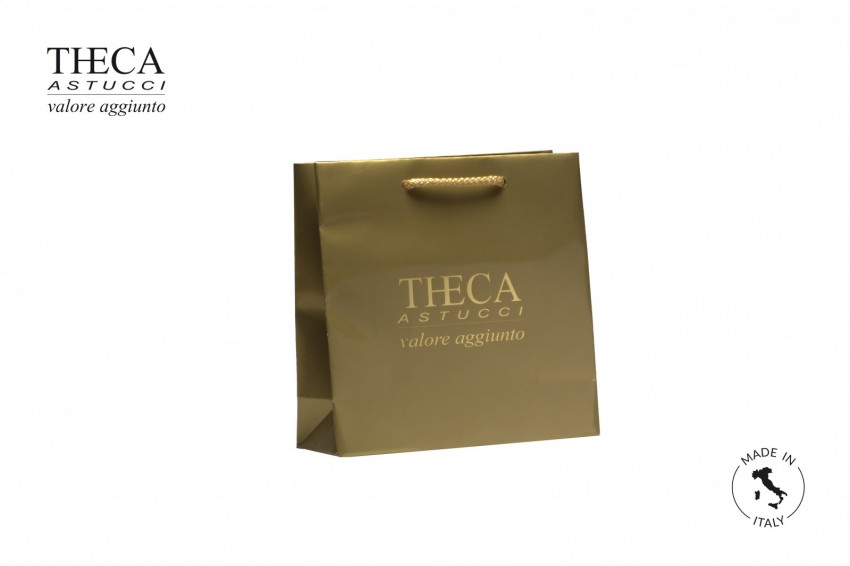 Shopper for jewelry Laminated shopping bag Italy shopper Italy shopper 21+8x21