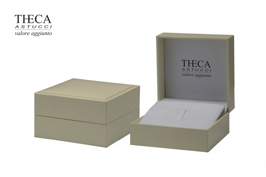 Jewelry boxes Jewelry box premium Theca Theca presentation box for ring earrings pendant 87x87x50 ivory
