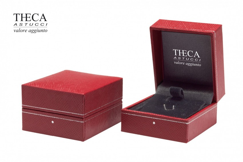 Jewelry box Wrapped boxes Ambra Ambra earring 46x51x30 red