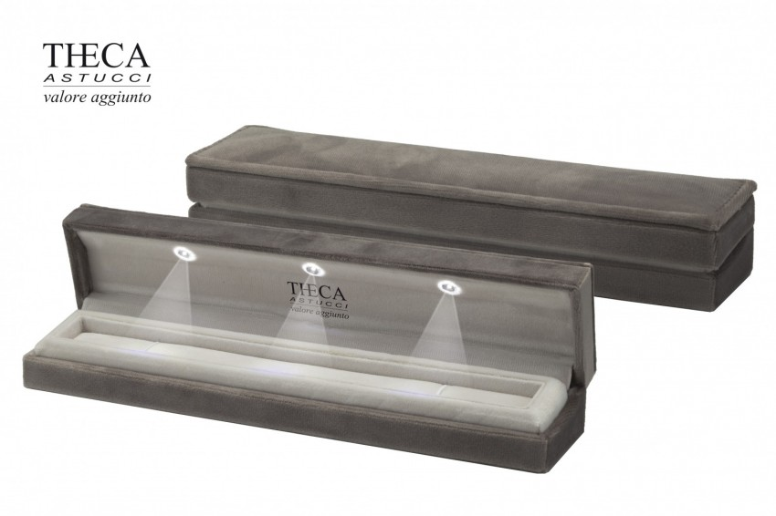 Jewelry box Led light box Angie led Angie led bracelet 235x50x37 tortora