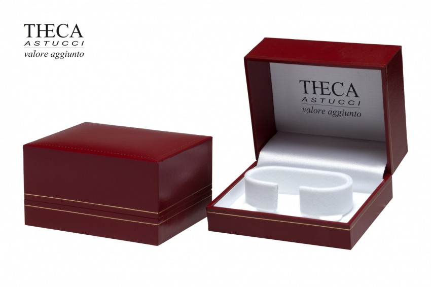Jewelry box Wrapped boxes Thecaplus Thecaplus bangle 100x85x55 red