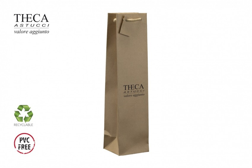 Wine packaging Kraft shopping bag Andrea shopper Andrea wine shopper one bottle 10+9x39