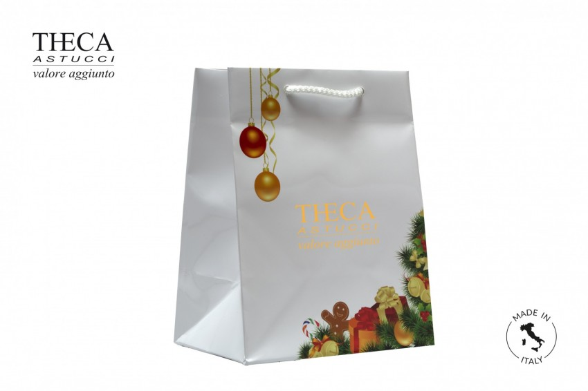 Shopper for jewelry Laminated shopping bag Christmas shopper Natale shopping bag 180+120x230