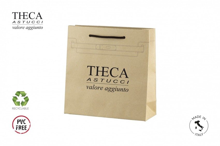 Shopper for clothing Kraft shopping bag Cintura shopper Cintura shopper 24,5+9x25 kraft natural