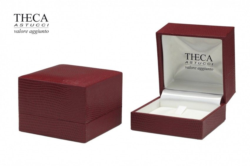 Jewelry boxes Jewelry box premium Basic Basic presentation box for ring 70x70x50 red