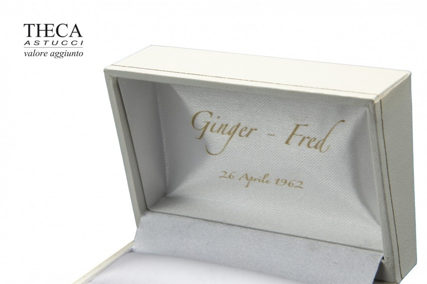 Jewelry boxes Jewelry box with name Dilan name Dilan presentation box for wedding rings 74x50x36 white