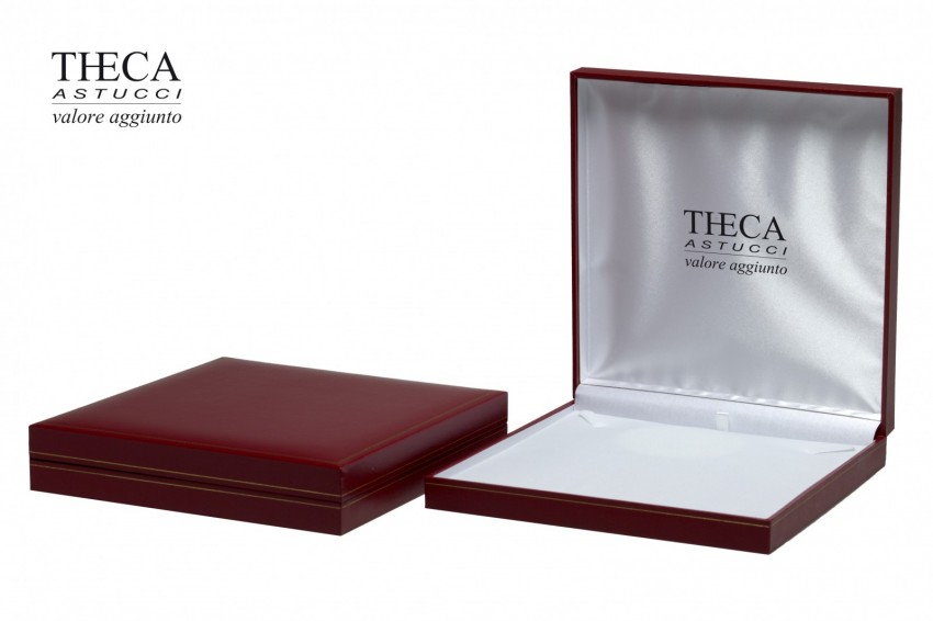 Jewelry box Wrapped boxes Thecax Thecax necklace 191x194x35 red