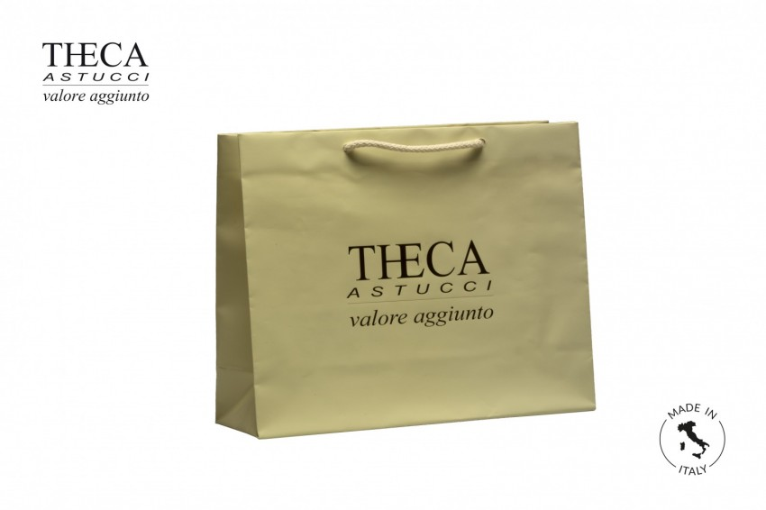 Shopper for jewelry Laminated shopping bag Italy shopper Italy shopper 30+10x24