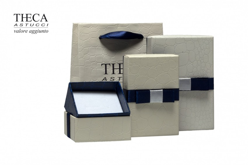 Jewelry box Carboard boxes Ester Hipster kit two-tone cream navy + shopper