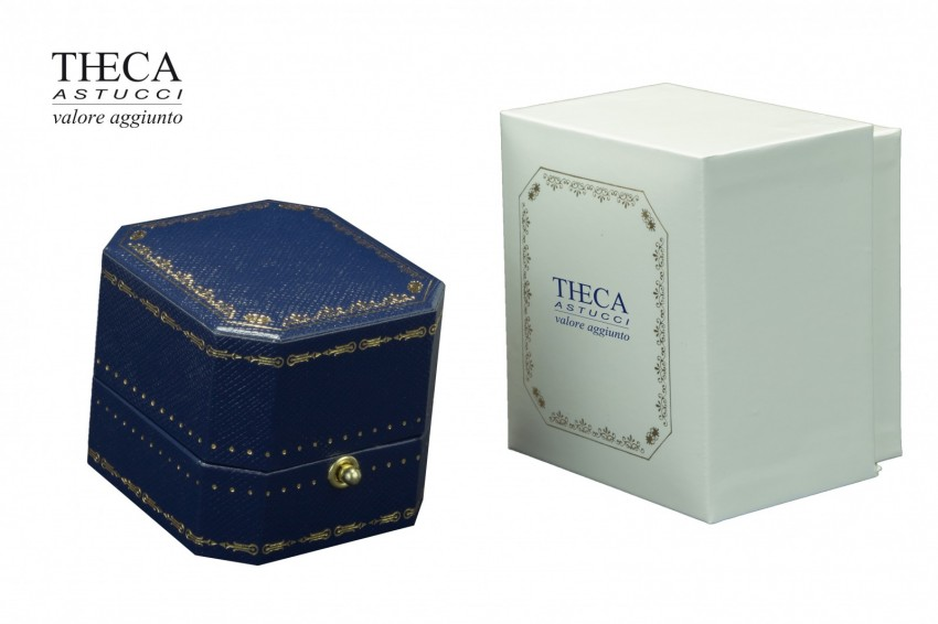 Jewelry box Wrapped box Oxford Oxford ring 52x58x45 navy