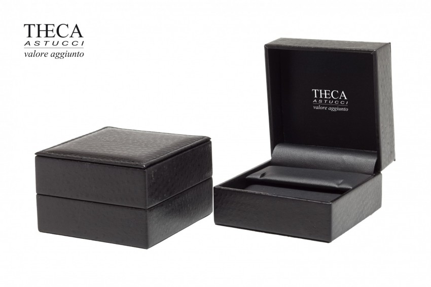 Jewelry boxes Jewelry box leatherette Kelly Kelly presentation box for ring earrings pendant 87x87x50 black
