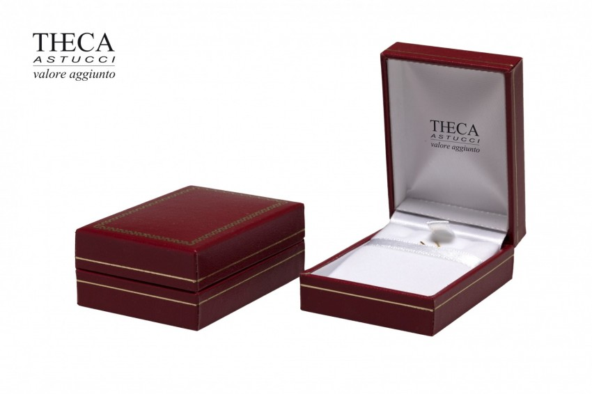 Jewelry box Wrapped boxes Thecax Thecax pendant w/ hook 47x66x22 red