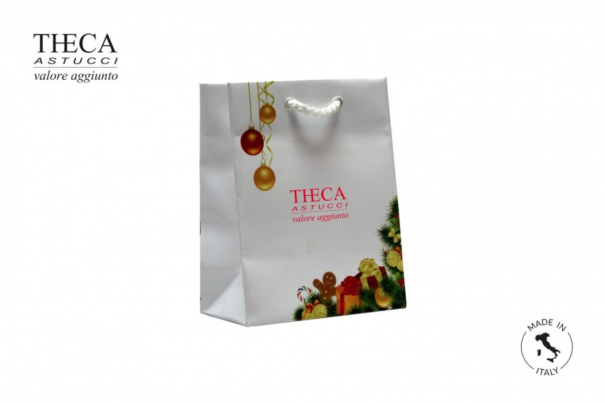 Shopper for jewelry Laminated shopping bag Christmas shopper Natale shopping bag 110+60x140