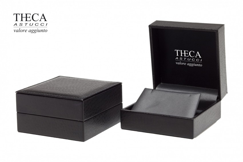 Jewelry boxes Jewelry box leatherette Kelly Kelly presentation box for earrings pendant 109x109x50 black
