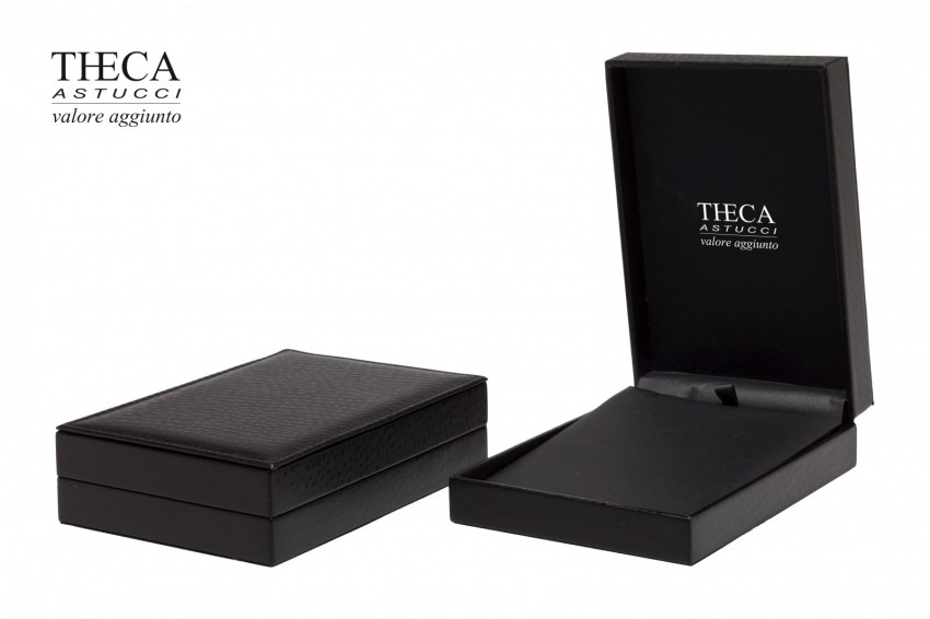 Jewelry boxes Jewelry box leatherette Kelly Kelly presentation box for necklace 111x158x36 nero