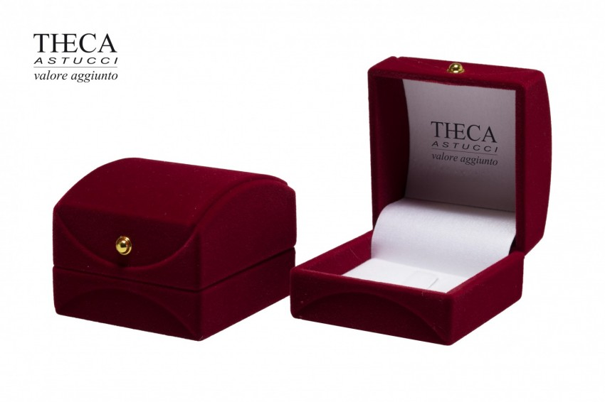 Jewelry box Flocked boxes Flora Flora ring 55x55x48 red