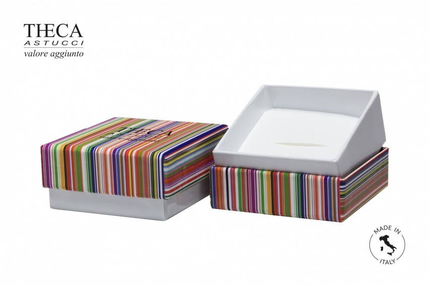 Jewelry box Paper box with shopper Mille righe Millerighe all-purpose 68x68x33(22) + shopper