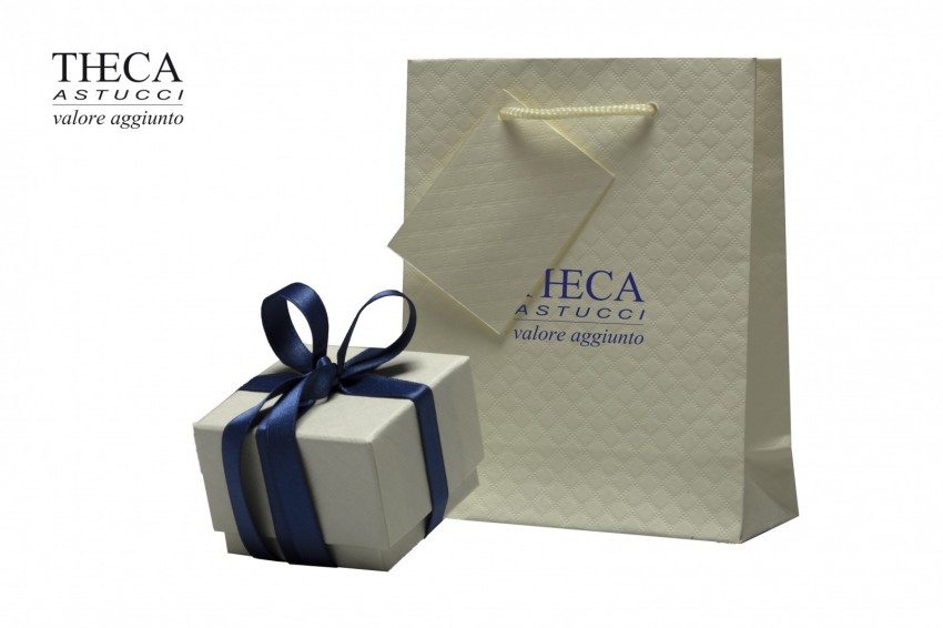 Presentation boxes Presentation boxes with gift bags Idea Idea presentation box for ring 60x60x45 ivory + shopper
