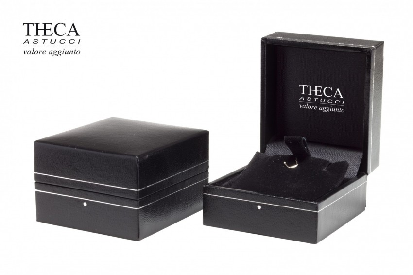 Jewelry box Wrapped box Ambra Ambra earring 46x51x30 black