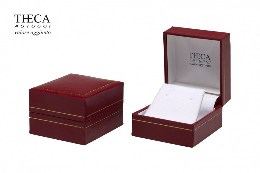 Jewelry box Wrapped boxes Thecax Thecax earring 47x52x32 red