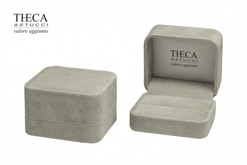 Jewelry boxes Jewelry box luxury Corfu Corfu presentation box for wedding ring 75x65x46 grey
