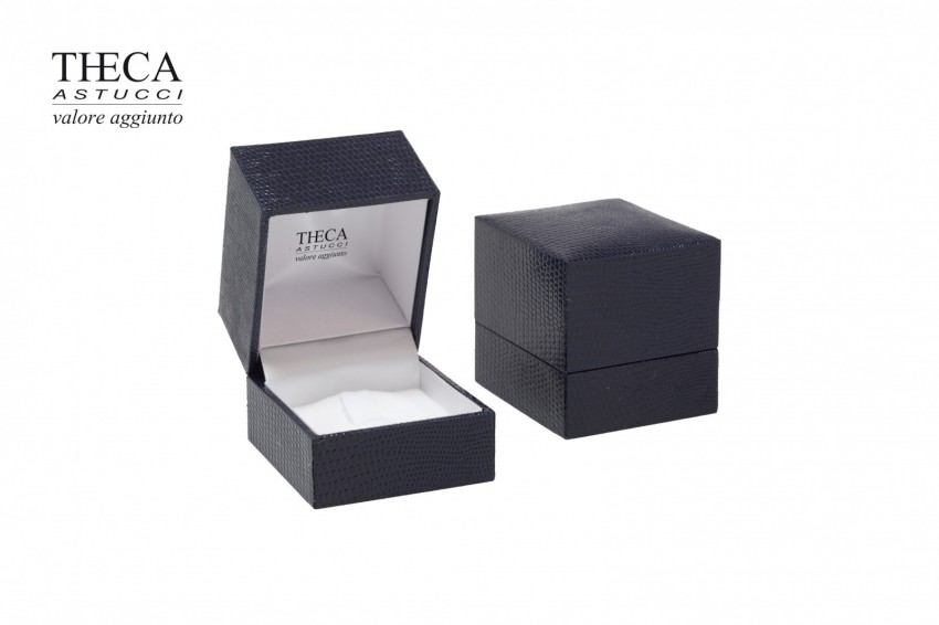 Jewelry boxes Jewelry box premium Basic Basic presentation box for ring 47x52x48 blue