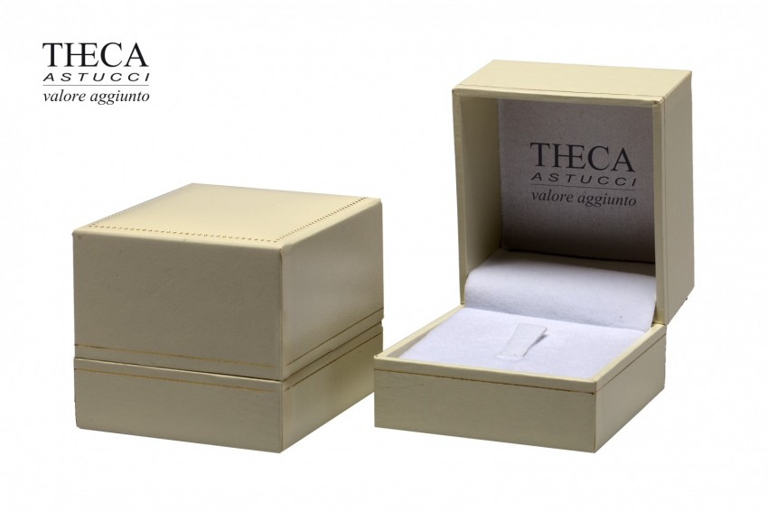 Jewelry boxes Jewelry box premium Theca Theca presentation box for ring earrings 60x65x52 ivory