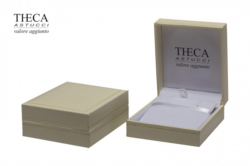 Jewelry boxes Jewelry box premium Theca Theca presentation box for earrings pendant 71x82x32 ivory