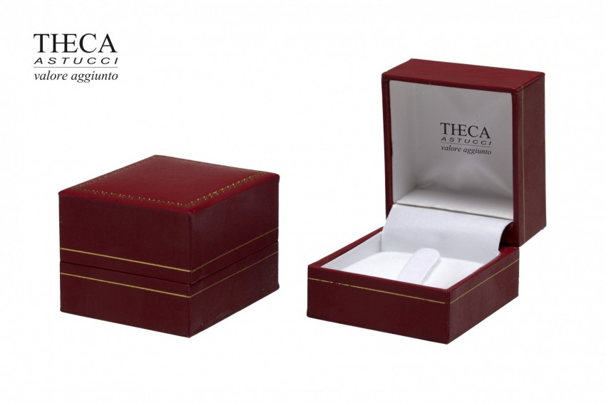 Jewelry box Wrapped boxes Thecax Thecax ring 47x52x39 red