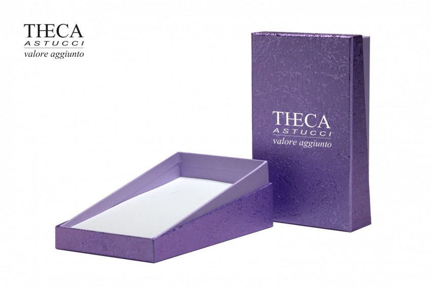 Presentation boxes Badget presentation boxes Outlet Outlet presentation box for necklace 90x150x35 purple