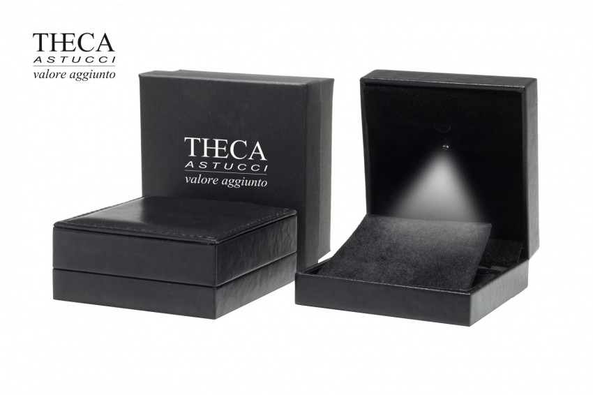 Jewelry boxes Jewelry box with led light Andromeda Andromeda presentation box for pendant earring 90x92x38 black with led