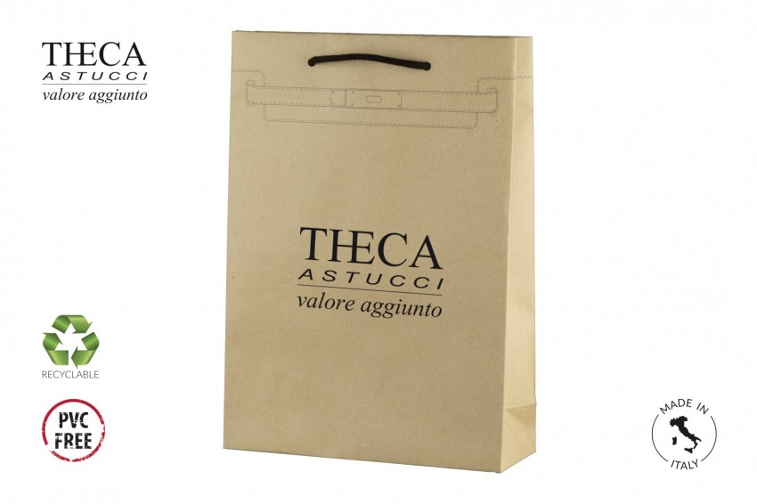 Shopper for clothing Kraft shopping bag Cintura shopper Cintura shopper 24,5+9x35 kraft natural