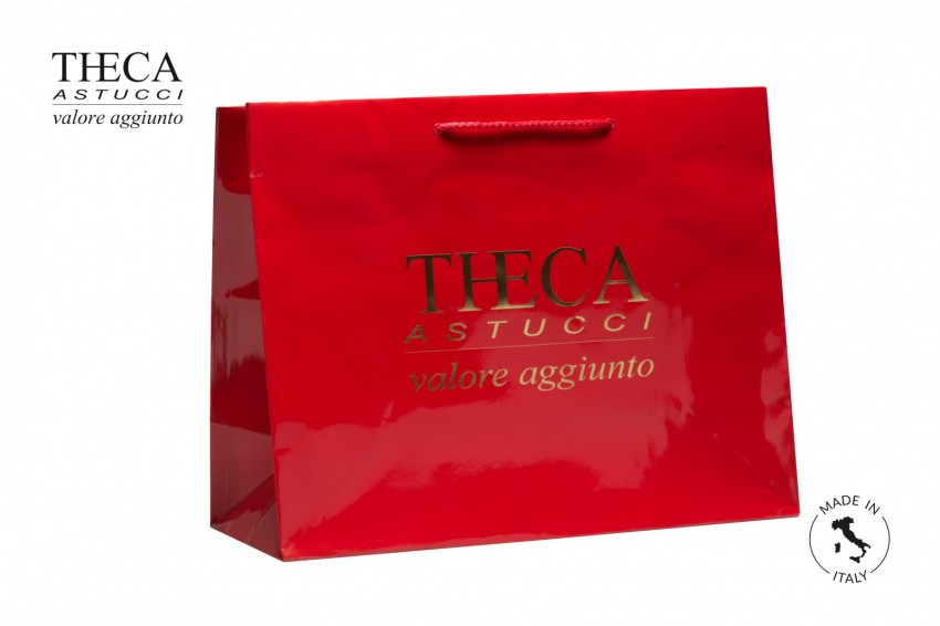 Shopper for jewelry Laminated shopping bag Italy shopper Italy shopper 42+18x33