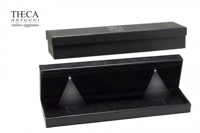 Jewelry boxes Jewelry box with led light Andromeda Andromeda presentation box for bracelet 242x60x34 black with led